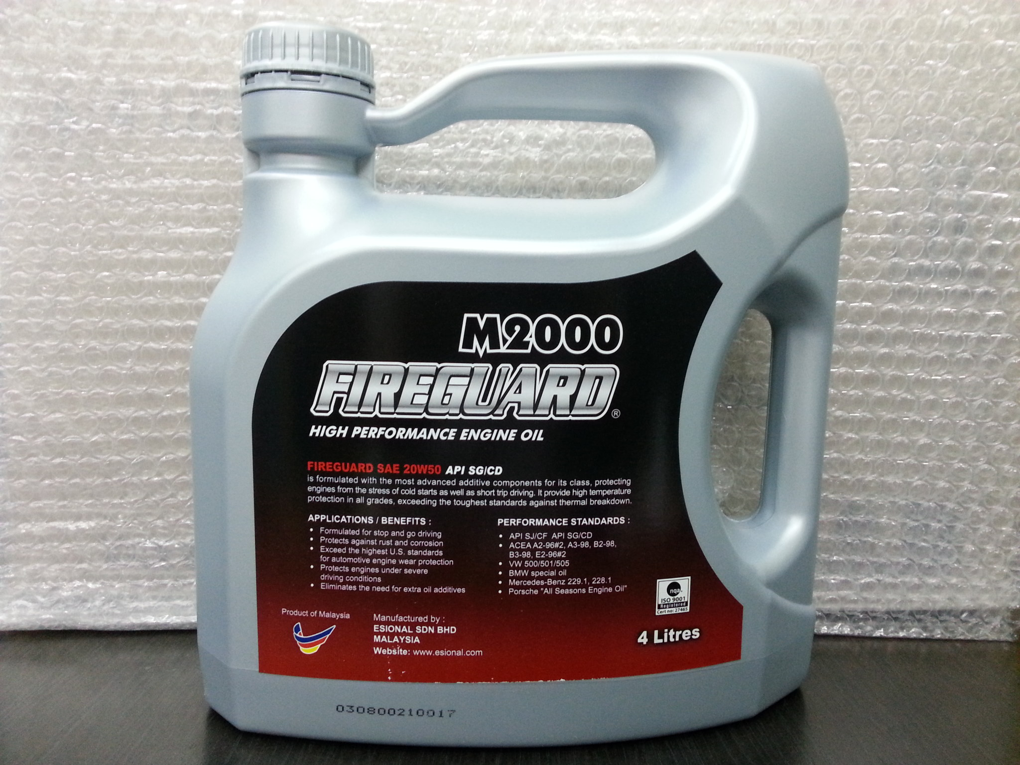 Fireguard m2000 high performance engine oil sae 20w50 api for 20w50 motor oil temperature range