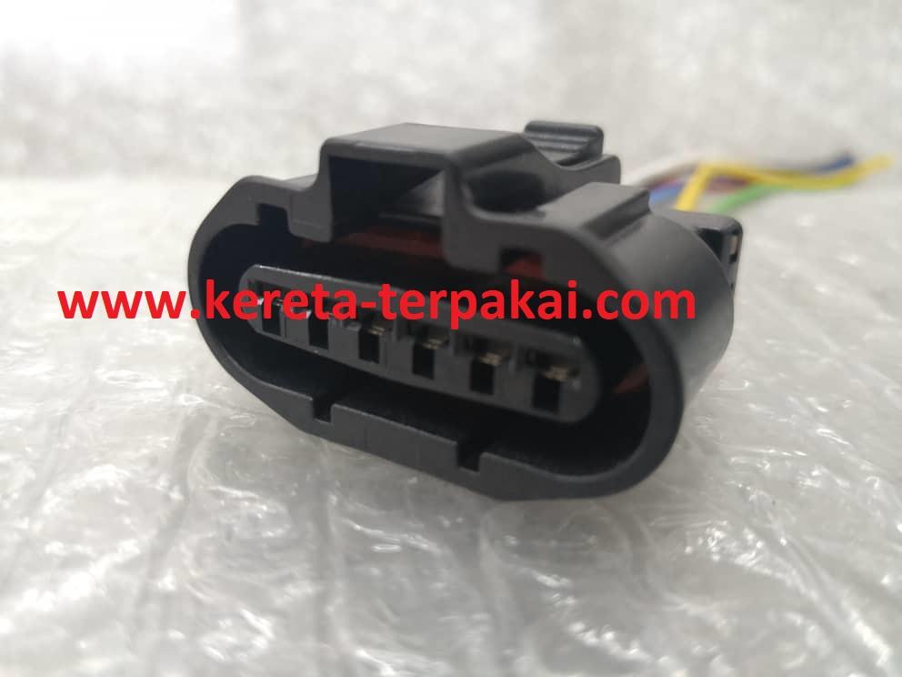 Proton Wira Mmc Perdana Waja Distributor Throttle Position Body Socket Connector 6 Pin Wire Harness