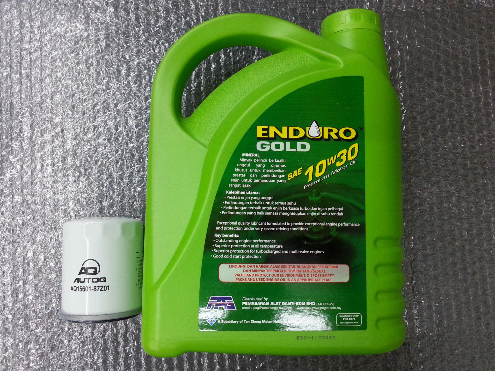 ENDURO LUBRICANT ENGINE OIL SAE 10W30 SL/CF 4L