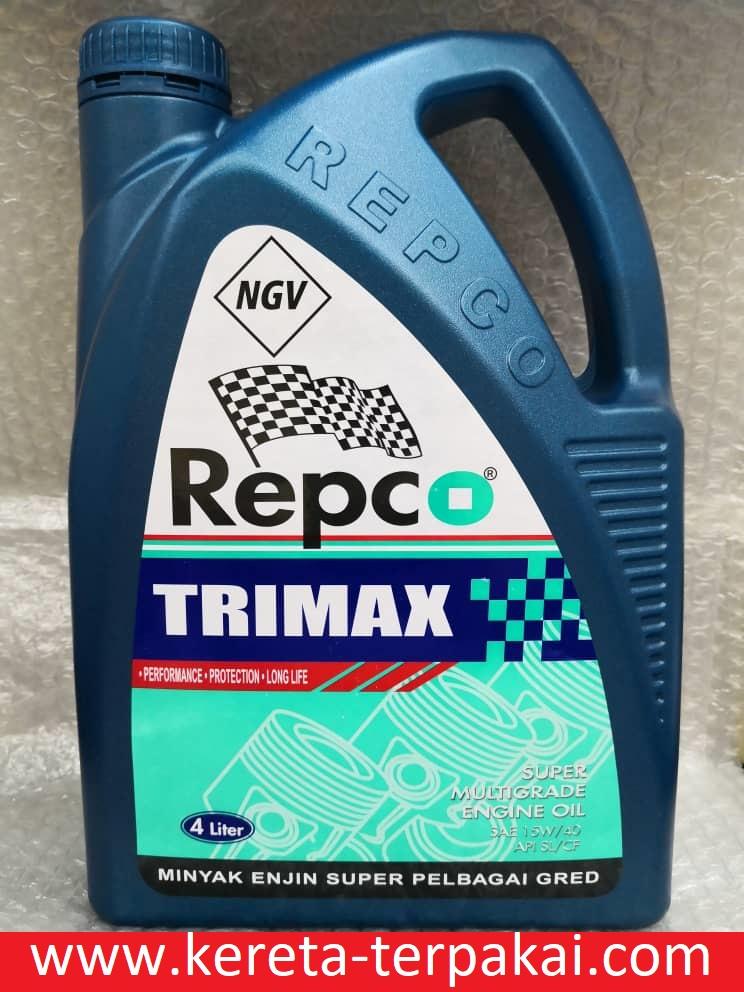 REPCO TRIMAX PREMIUM GRADE SAE 15W-40 API SL/CF NGV Engine